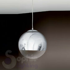 Lampada lampadario sospensione globo sfera design moderno acciaio cromo cucina