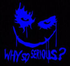 Blue Joker Why So Serious Sticker Vinyl Decal Suicide Squad Harley Quinn Batman