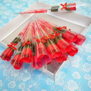 ROSE ROUGE AMOUR SAINT VALENTIN SAVON BAIN SEXY FLEUR FLOWER SOAP LOVE RED