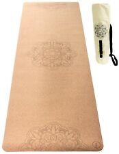 Premium Cork Yoga Mat with Canvas Carry Bag