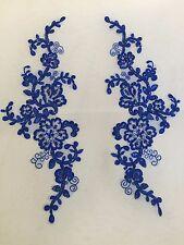 1 mirror pair blue corded sequinned beaded applique motifs tutu dance costume