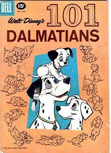 101 Dalmations #1183 walt disneys 1961 Dell comics movie four color silver age!!