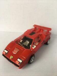 Original 1980 Hasbro Takara Transformers G1 SIDESWIPE Lamborghini NICE