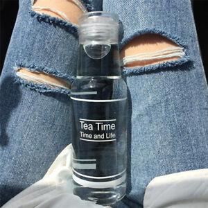 Tragbare Sport Wasser Flasche mit Stroh Kunststoff Trinken Tassen Für Reise