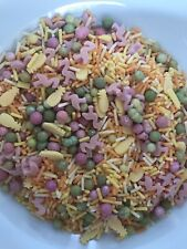 Tropical Flamingo Sprinkles Mix Cupcake Cake Toppers Decorations Pink Yellow 50g