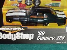 ERTL 1969 CHEVY CAMARO Z28 BLACK/WHITE BODY SHOP ASSEMBLY MODEL KIT 1/18 VHTF