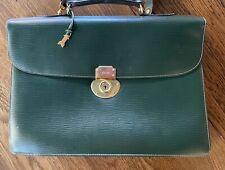 GOLD PFEIL NOS handmade vintage leather briefcase emerald green