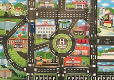 CHILDRENS PLAY TABLE MAT 50.6cm x 80.2cm model car truck toy map road travel