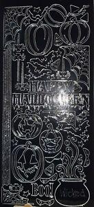 Peel Off Stickers - Halloween Black