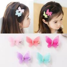 2Pcs/lot Lindo Mariposa Niños Hair Clips