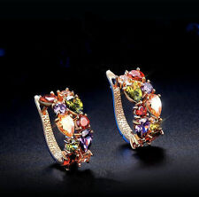 Elegant Women Jewelry 1 Pair Luxury Crystal Rhinestone Ear Stud Earrings Gift