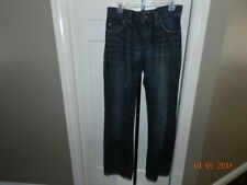 Buckle AFFLICTION Jeans Contrast Thick Stitch Grant straight Dark Wash Mens 30 L