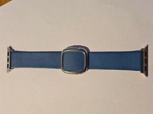Genuine Apple Watch Modern Buckle Strap - Blue , Large (40mm)