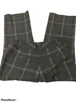 Express Women's Dress Pants Size 4 Gray Black Check Cropped Capri 29X23 Low Rise