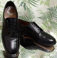 ALLEN EDMONDS SAGAMORE BLACK LEATHER OXFORDS WORK DRESS SHOES US MENS SZ 9.5 D