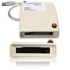 USB 2.0 To 68 Pin ATA PCMCIA Flash Disk Memory Card Reader Adapter Converter