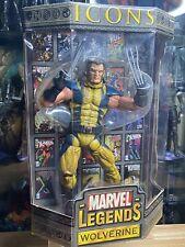 "Marvel legends icons wolverine unmasked Variant Toybiz 12"" HTF Flawed Box"