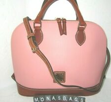 Dooney & Bourke Pale Pink Pebbled Leather Leather Zip Zip Dome Satchel Bag $198