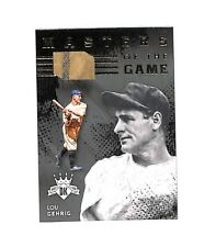2016 Panini Diamond Kings Lou Gehrig Masters Of The Game jersey card 8/25 HOF