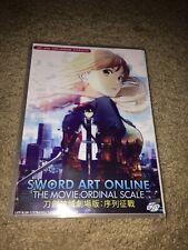 New listing Sword Art Online Ordinal Scale Movie Dvd Japanese/English version