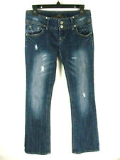 Almost Famous Women's Jeans Size 7 Distressed Embellished