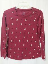Shirt Size 16-18 Black Longsleeve Glitter Initial Letter U Justice Girls Top