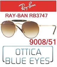 072cc6de05 Occhiali da Sole RAYBAN RB 3747 9008 51 Sunglasses Ray Ban Round Double  Bridge