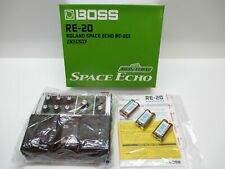 BOSS RE-20 ROLAND SPACE ECHO RE-201 COSM Dual Pedal in Box w/ Manual ~CLEAN~!