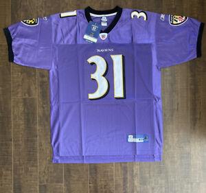 Jamal Lewis Reebok Authentic Baltimore Ravens Jersey - Brand New Size 52 (D1)