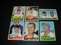 """1965 Topps baseball Hi # Minor Stars,Rookies,Commons """"You Pick 2 from List $6.25"""