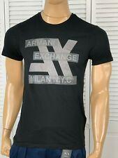 Armani Exchange Authentic High Tech Logo Slim Fit T Shirt Black NWT