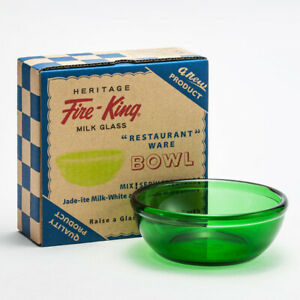 Heritage Fire-King 15oz Bowl Forest Green Fire King Japan