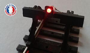 FEU01-HO-Lot de 10 feux de heurtoir avec led rouge
