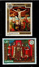 1975 French Andorra Sc #236-237 EUROPA / Religion set Mint NH; SCV $11.00