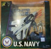 Excite US Navy Play Set - Fighter Plane, Cycle, 2 Seals & Accessories (NEW)