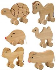 Holz Nachziehtier Schiebetier von Bauer 25cm Holzspielzeug Tiere NEU
