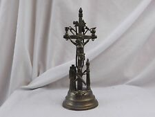 Vintage Tools of Passion Crucifix Skull & Crossbones Catholic Icon Early Pewter