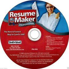 Resume Maker Professional 16 PC Windows XP Vista Win 7 8 10 New CD-ROM