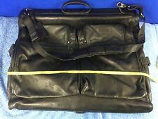 Tumi Black Leather Alpha Garment Bag Carry On