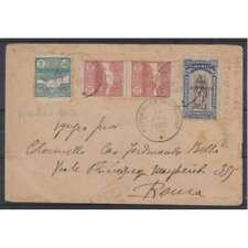 SAN MARINO 1903 VEDUTA 3 VALORI + 1918 VITTORIA 25 CENT. + 5 CENT SU BUSTA
