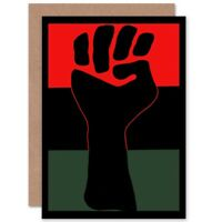 Political Civil Rights Black Power Fist African Usa Blank Greeting Card