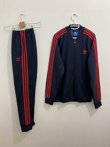 Adidas Originals Superstar Tracksuit Legend Ink Red Size L