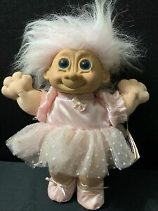 """Russ Troll Kidz Ballerina Dressed In Pink Troll Plush Doll 14"""""""