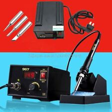 110V 220V 967 Electric Rework Soldering Station Iron LCD Display Desoldering ...