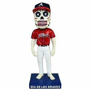 DIA DE LOS BRAVOS Atlanta Braves Bobblehead Sugar Skull  9/6/19