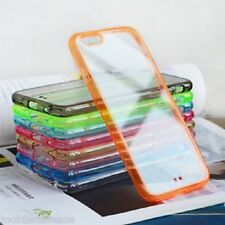 "FUNDA BUMPER COLOR PARA IPHONE 6 - 4,7"" CON TRASERA TRANSPARENTE CARCASA"