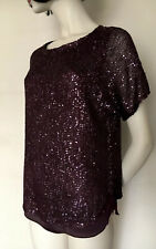 Phase Eight,Burgundy Sequin,Sparkly,Evening/Party,Tunic/Top,S,UK10/12
