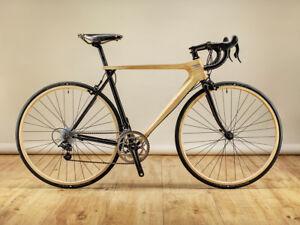 "Rennrad ""TREE-RACER"", Stahl - Holz, alle Rahmenhöhen"