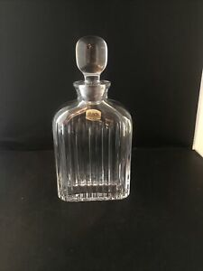 9.5 Inch High Whiskey Decanter From Atlantis Crystal Made In Portugal