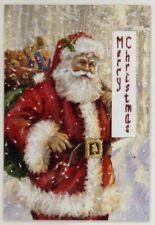 18ct Cross Stitch card Kit - Luca-S - Merry Christmas Santa - Cross Stitch kit
